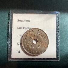 Southern Rhodesia Penny 1934 BU