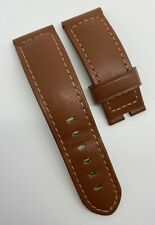 Authentic Officine Panerai 24mm x 22mm Brown Calf Leather Tang Watch Strap OEM