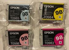 EPSON98  INK 4 COLORS Un-Opened Packs Exp10/20 T098920 ARTISANS Printers Genuine