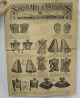 Vintage Standard Fashions Price Catalog of Clothing Patterns Feb 1898