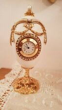 Wedding Proposal Faberge Clock Goose egg Russian style Jewelry box 24k Gold Hmde