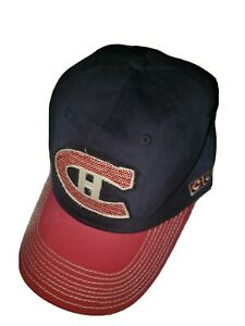 """MONTREAL CANADIENS """"CCM"""" STRAPBACK HAT ADJUSTABLE SLOUCH $24 BLUE/RED/ WHITE"""