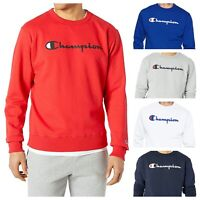Champion Sweatshirt Men's ECO Fleece Crew Neck Script Logo - 6 Colors!