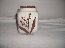 """SHEFFIELD POTTERY CREAM /BROWN FLORAL VASE 4-1/2"""" HIGH'EXCELLENT"""