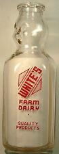 WHITE'S FARM DAIRY BABY FACE CREAM TOP MILK BOTTLE
