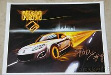 2015 Nathanial Sparks signed NSM IMSA Mazda MX-5 Cup postcard