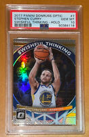 Pop 5💎2017 Stephen Curry OPTIC HOLO SWISHFUL THINKING SILVER PRIZM 7 PSA 10 BGS