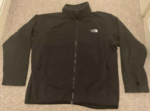 THE NORTH FACE Mens Fleece Jacket Size XL Black Polyester Full Zip