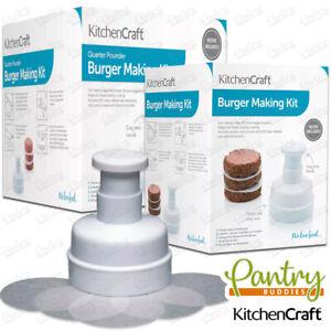 Kitchen Craft Burger Press Maker With 100 Wax Discs Quarter Pounder Burger Maker
