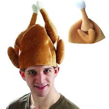 Thanksgiving Day Funny Plush Roasted Turkey Hat Party Festival Costume Cap Gifts