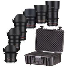 Samyang VDSLR 6-Lens Kit 14/24/35/50/85/135mm + Case - Canon EF Mount - Open Box