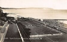 BR70376 tennis court and calver cliffs shanklin isle of wight  real photo   uk