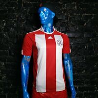 Paraguay Team Jersey Home shirt 2010 - 2011 Red White Adidas P47038 Mens Size S