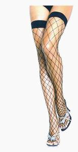 Leg Avenue Fence Net Thigh Highs Fishnet Stockings Reg White Black Neon Pnk 9014