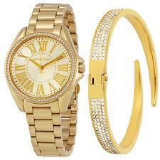 Michael Kors Kacie Gold Sunray Dial Ladies Watch Set MK3568