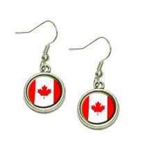 Flag of Canada Dangling Drop Charm Earrings