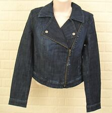 Womens Denim Jacket Size XS XSmall Cropped Blue Jean Stretch Elle NWT