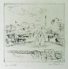 RENE LEVREL 1900 Nantes-1981 Pruillé-l'Éguillé Pointe-sèche école de Paris