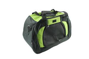 Dog Pet Carrier Bag Green and Black With Shoulder Straps Includes Storage Bag
