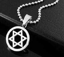 SILVER la stella di David Collana Ciondolo Ebraico EBRAISMO 50 cm CATENA UK Venditore