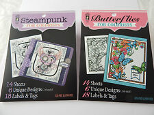 Hot off the Press Colorists Twin Pack Steampunk & Butterflies Adult Colouring