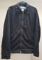 MEN`S COLUMBIA LINED FLEECE JACKET SIZE M ZIP UP TOP BLACK COAT
