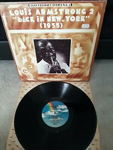 """Louis Armstrong – Back In New York (1935) Vinyl 12"""" LP MCA 1304 1980"""