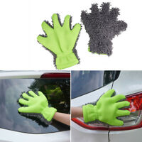 1x Microfiber Wash Cleaning Gloves Car Kitchen Household  Cleaner Cloth Mittens