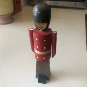 Handmade Wooden Toy Soldier Stacking Puzzle
