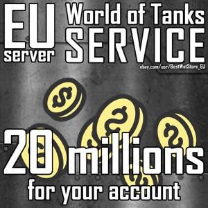 World of Tanks (WoT) - 20 000 000 credits - EU server