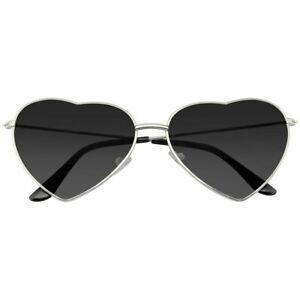 SUNGLASSES Heart Womens Boho Festival Retro Cute Heart Shape Sunglasses