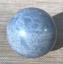 907g 85mm NATURAL SKY BLUE CELESTITE CRYSTAL sphere ball Healing A1910