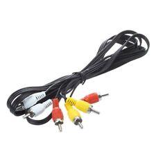 Triple 3 RCA macho Cable compuesto de audio de video DVD TV AV 1.4M Z6S6