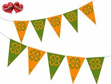 Irish shamrock tema Bunting Bandiera Irlanda Festa Decorazione da Festa Decor