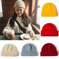 1*Unisex Men&Women Beanie Hat Warm Ribbed Winter Turn Ski Fisherman Docker Hats