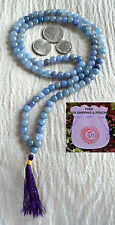 Blue Aventurine Beads Mala-Tibetan Buddhist Prayer Karma 8 MM Bead (108+1)-Energ