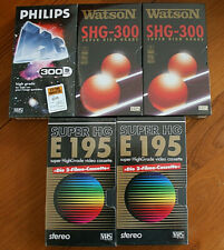 5 Stück neue Videokassetten- 2 x 195/ 3 x 300 - SHG - original eingeschweißt !!!