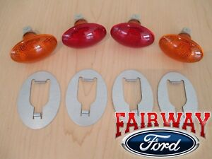 99 thru 10 Super Duty F-350 Dually OEM Ford Rear Fender Marker Lamp Light Kit