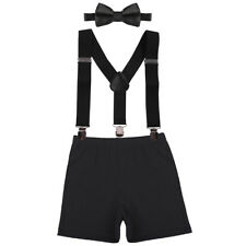 Birthday Cake Smash Photo Shoot Suspenders 3pcs Outfits for Toddler Baby Boys