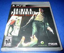 Sherlock Holmes: Crimes & Punishments Sony PlayStation 3 *New-Sealed-Free Ship!