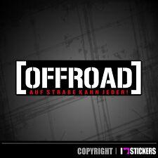 Offroad Aufkleber Gelände Sticker 4x4 Shocker Straße kann jeder  AD045