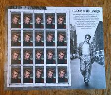 Collectable USPS Stamps / Legends of Hollywood / James Dean / Full Sheet