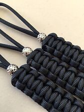 550 Paracord Knife Lanyard Black Cord 3 Pk Non-gutted