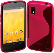 LG Nexus4 E960 Pink S Line Gel Cover Skin Stocking Filler