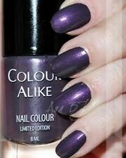 New! Colour Alike Nail Polish Lacquer in Plum Plum #459 Purple Beige Shimmer