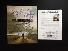 THE WALKING DEAD CAST 11 SIGNED 11X14 PHOTO PSA COA JON BERNTHAL ANDREW LINCOLN