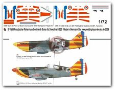 Peddinghaus 1/72 Dewoitine D.520 Markings French Aces WWII No.3 (2 planes) 1658