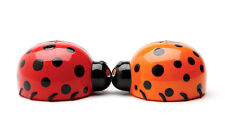 Lady Bugs Ceramic Magnetic Salt And Pepper Shakers