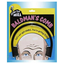 Over the Hill Bald Man's Comb- Funny Over the Hill Gag Gift- NEW
