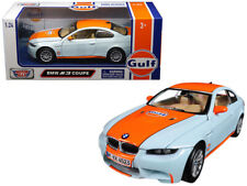 "BMW M3 Coupe with ""Gulf"" Livery Light Blue with Orange Stripe 1/24 Diecast Model"